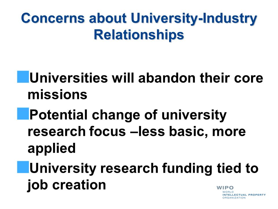 Concerns about University-Industry Relationships