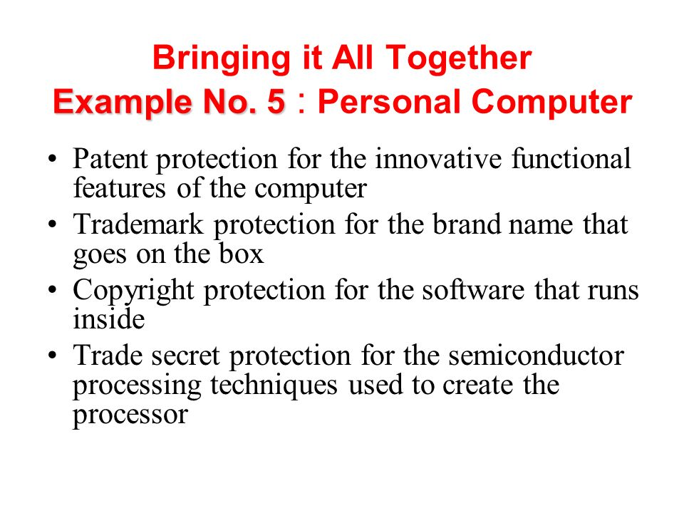 Bringing it All Together Example No. 5 : Personal Computer