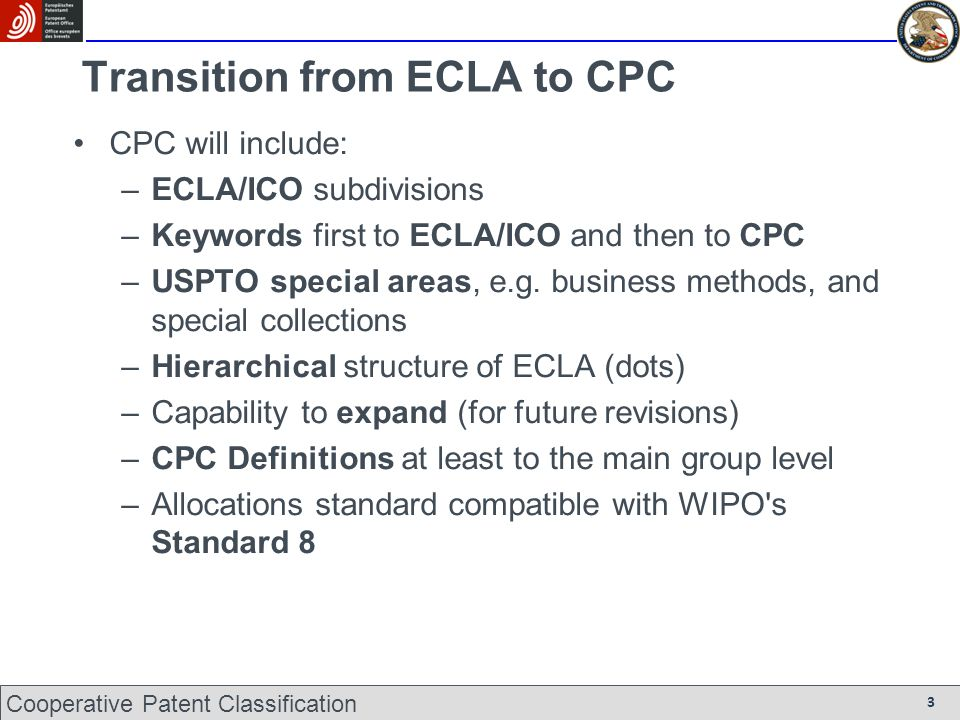 Transition from ECLA to CPC