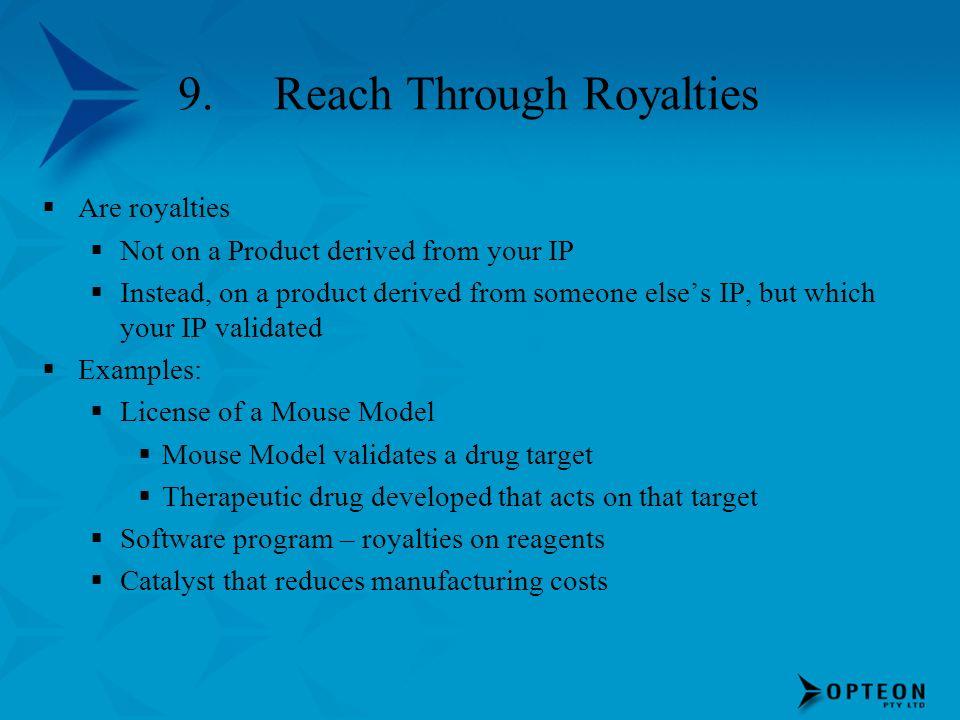 9. Reach Through Royalties