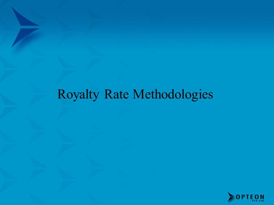 Royalty Rate Methodologies