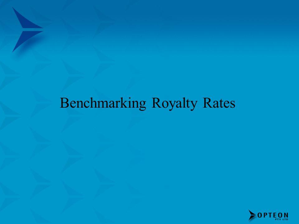 Benchmarking Royalty Rates