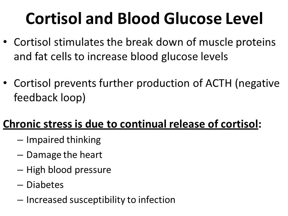 Cortisol and Blood Glucose Level