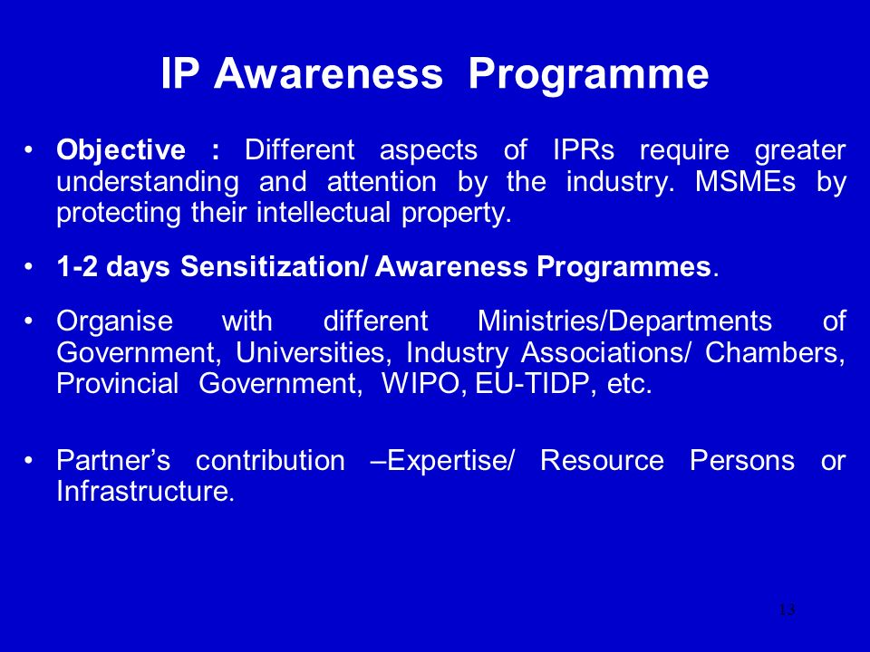 IP Awareness Programme