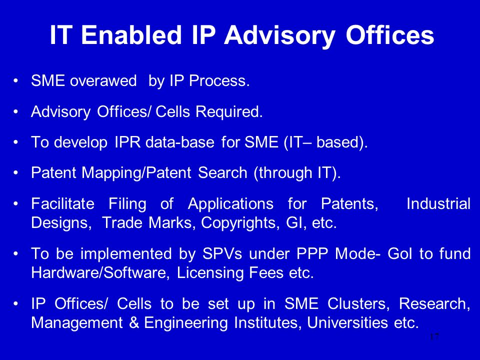 IT Enabled IP Advisory Offices