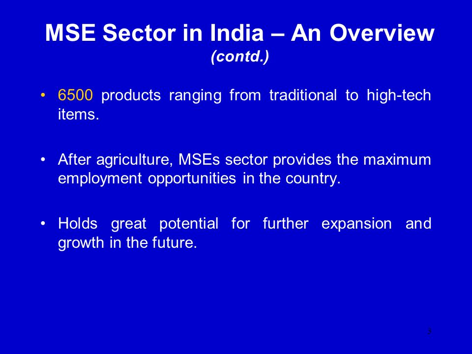 MSE Sector in India – An Overview (contd.)