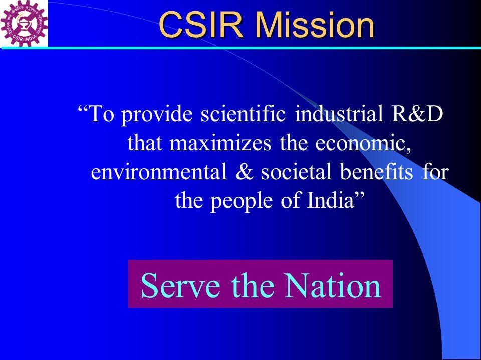 CSIR Mission Serve the Nation