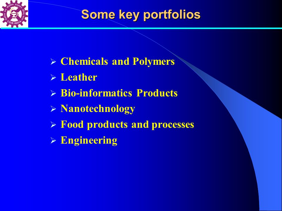 Some key portfolios Chemicals and Polymers Leather