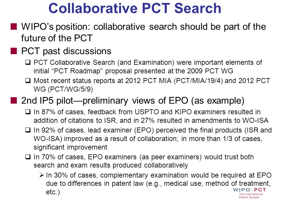 Collaborative PCT Search