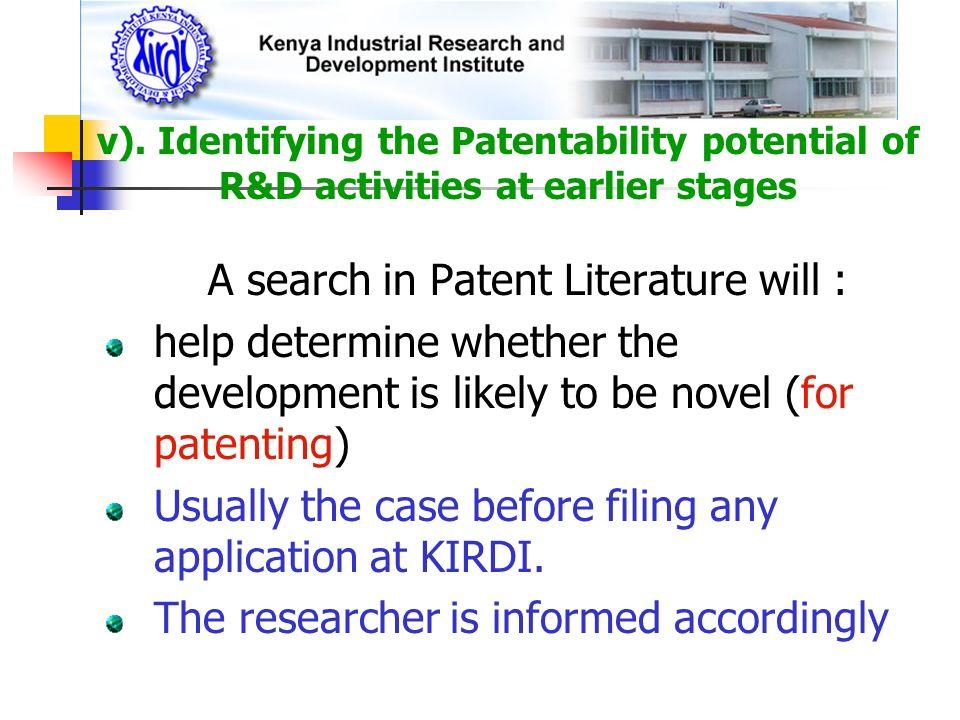 A search in Patent Literature will :