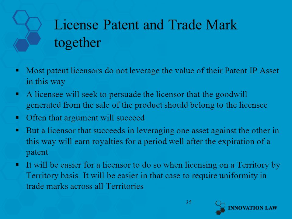 License Patent and Trade Mark together