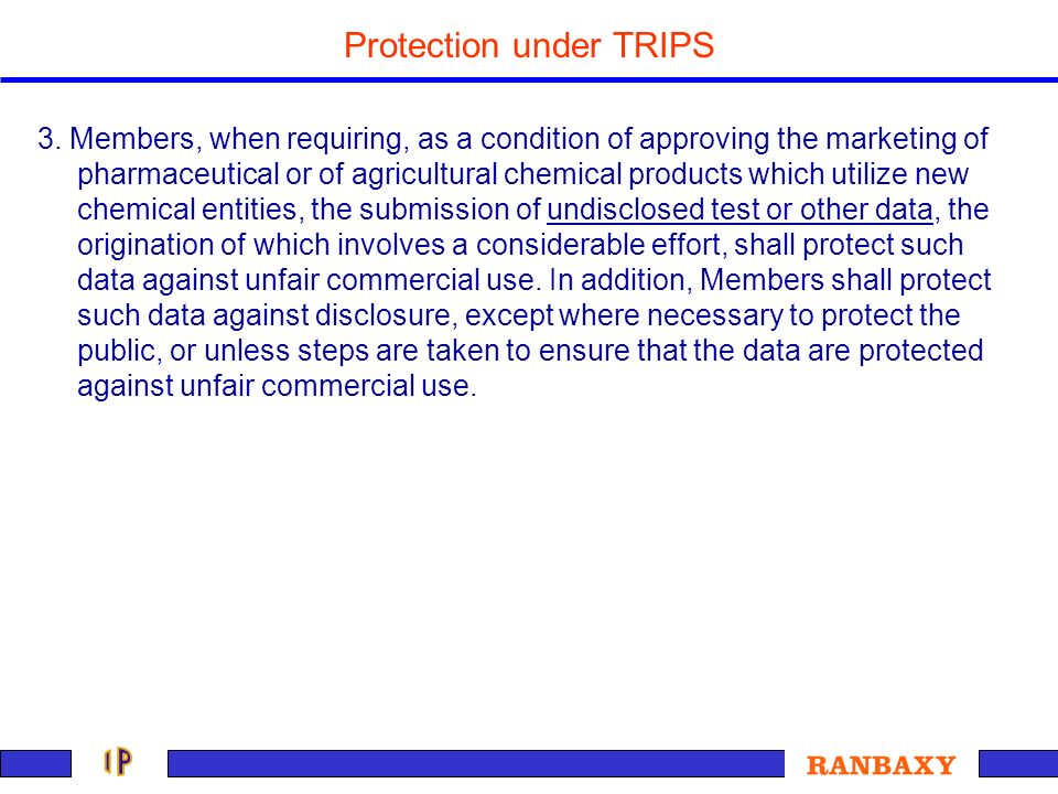 Protection under TRIPS
