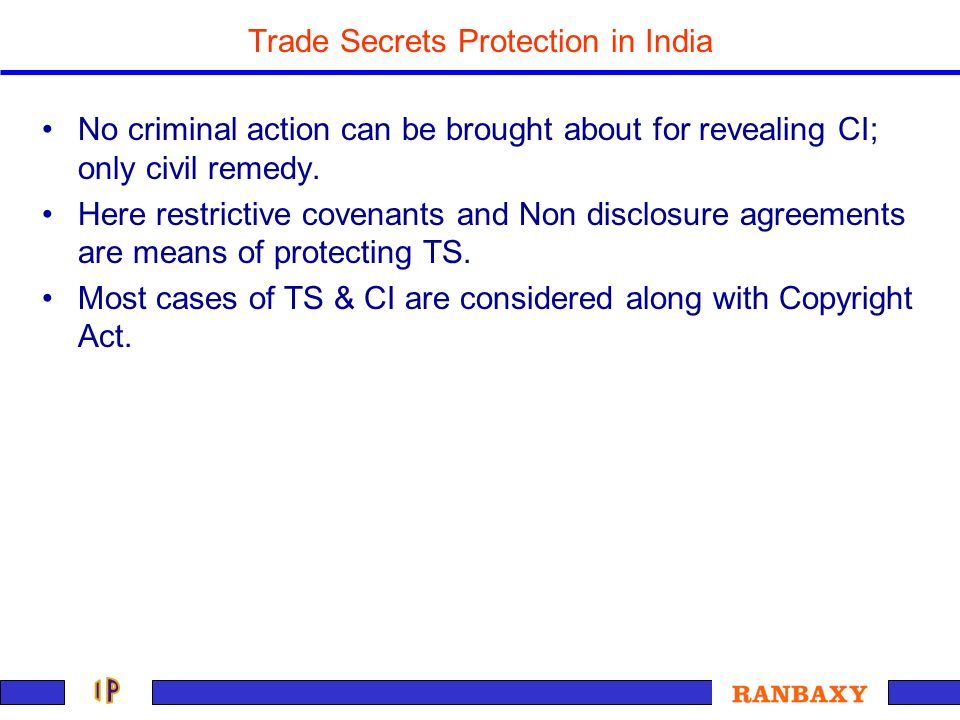 Trade Secrets Protection in India