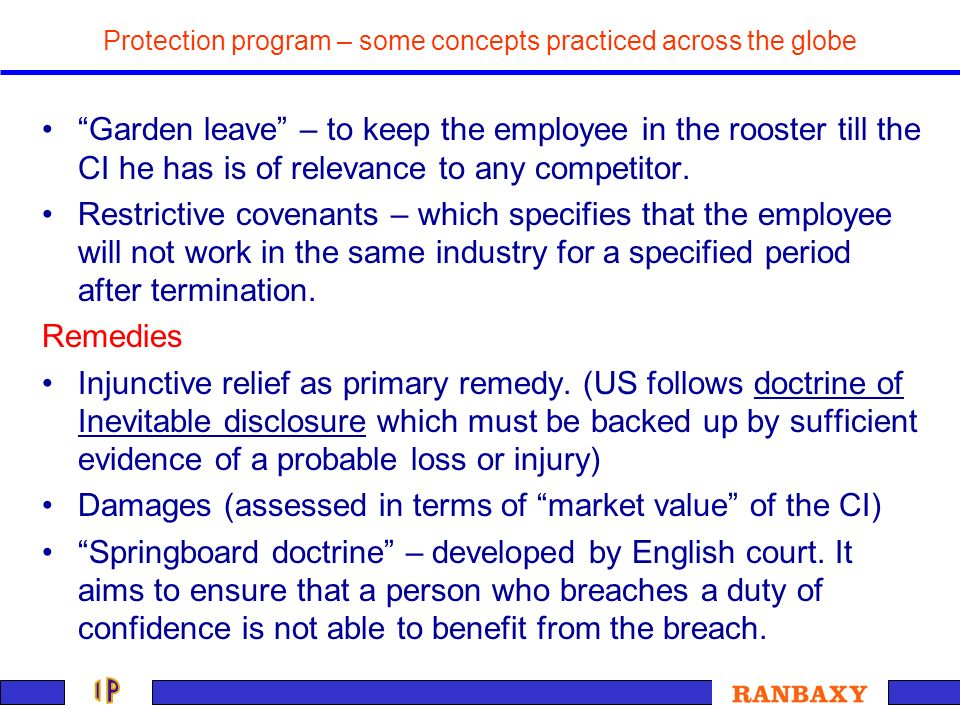 Protection program – some concepts practiced across the globe