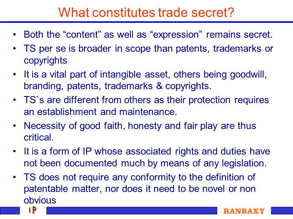 What constitutes trade secret