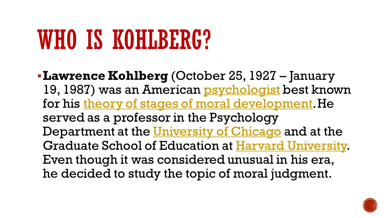 an analysis of the topic of kohlbergs moral dilemmas Print all entries for this topic  he presented a cross-section of children and adolescents with a set of moral dilemmas  lawrence kohlberg's approach to moral.