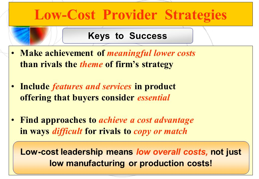 Low-Cost Provider Strategies