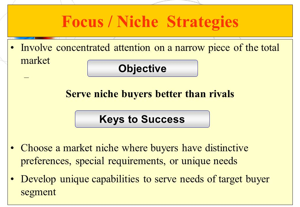 Focus / Niche Strategies