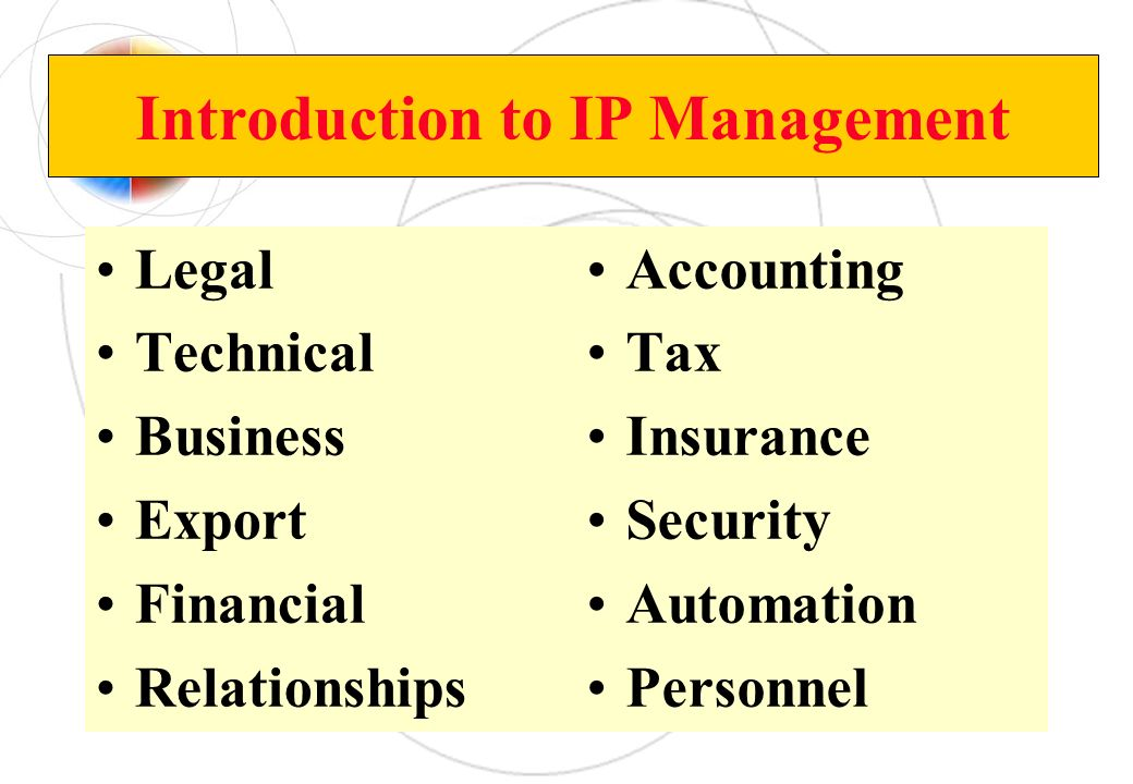 Introduction to IP Management