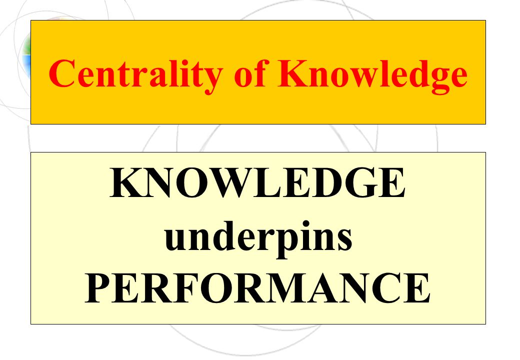 Centrality of Knowledge