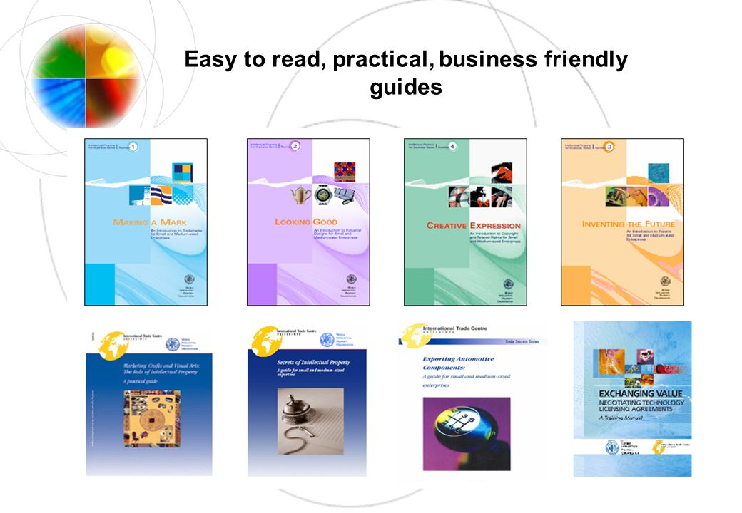 Easy to read, practical, business friendly guides