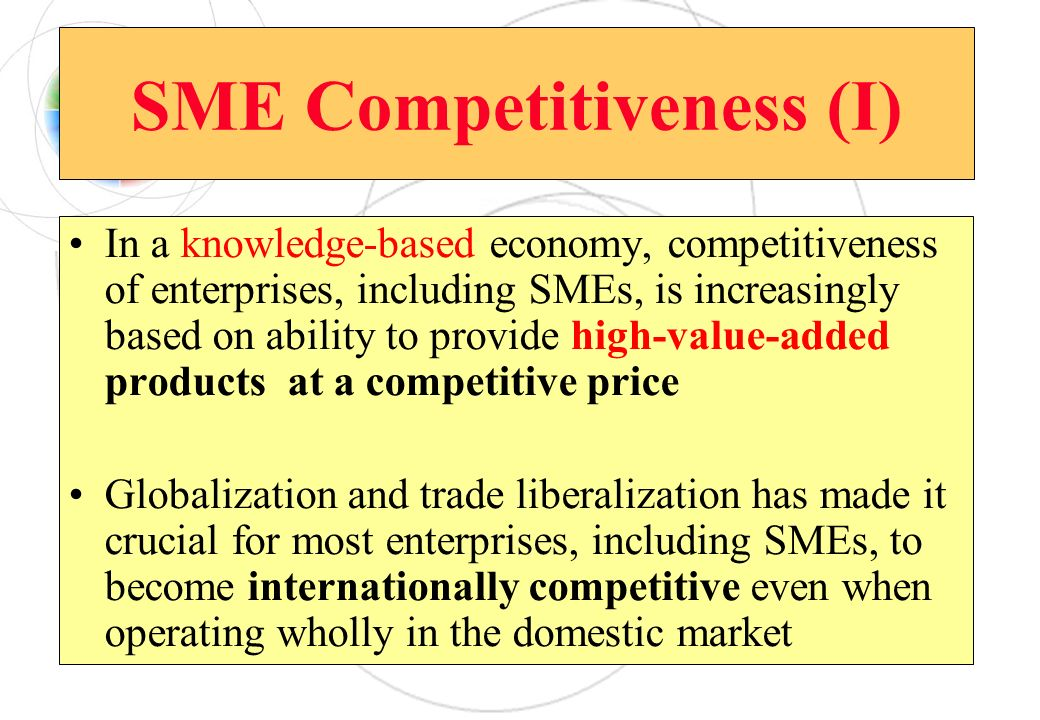 SME Competitiveness (I)