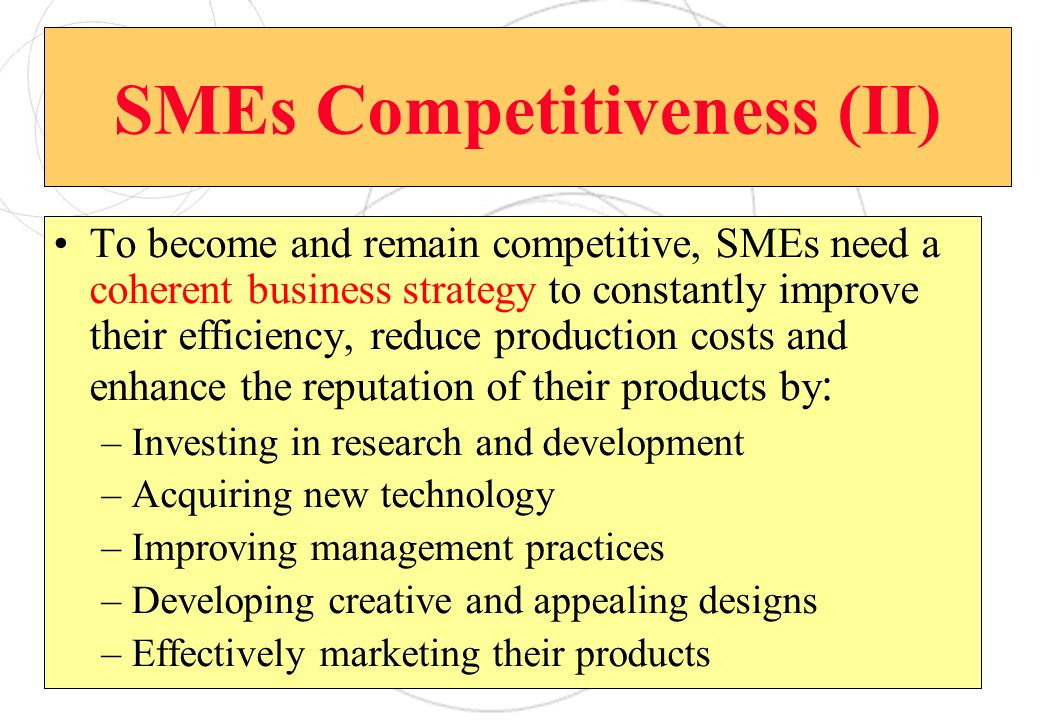 SMEs Competitiveness (II)