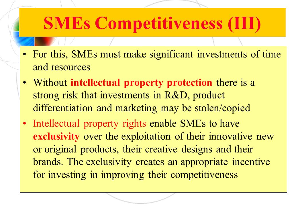 SMEs Competitiveness (III)