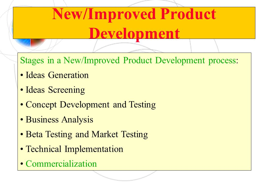 New/Improved Product Development