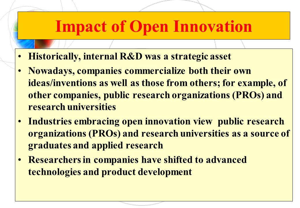 Impact of Open Innovation