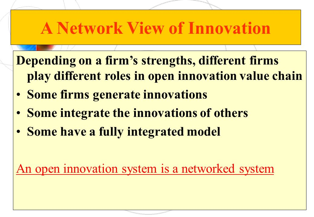 A Network View of Innovation