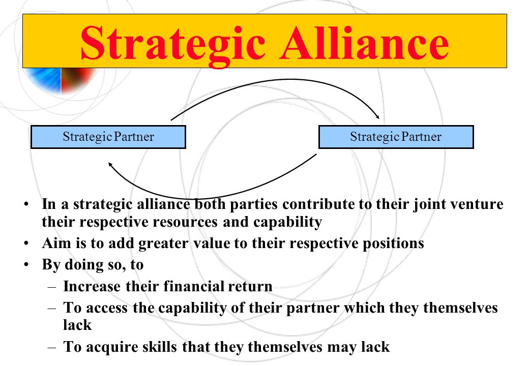 Strategic Alliance Strategic Partner. Strategic Partner.
