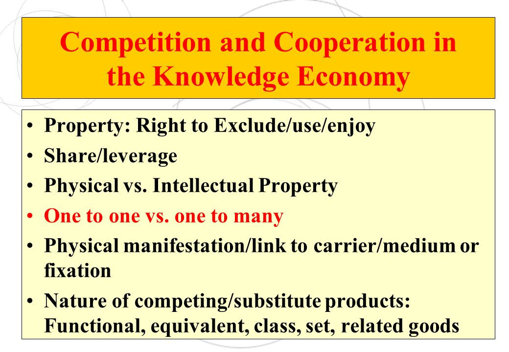 Competition and Cooperation in the Knowledge Economy