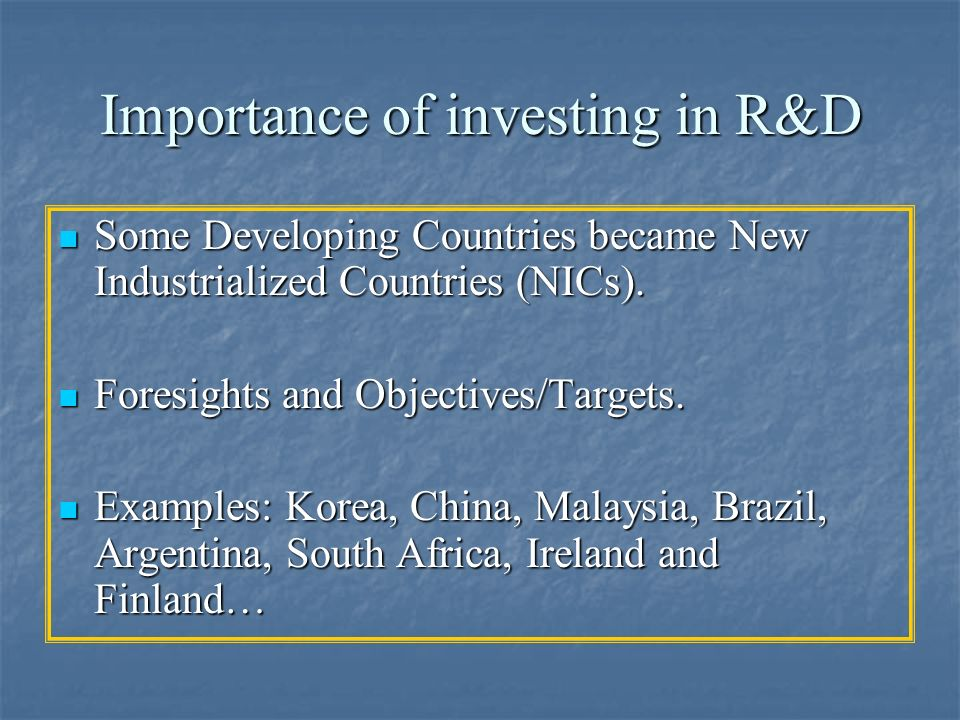 Importance of investing in R&D