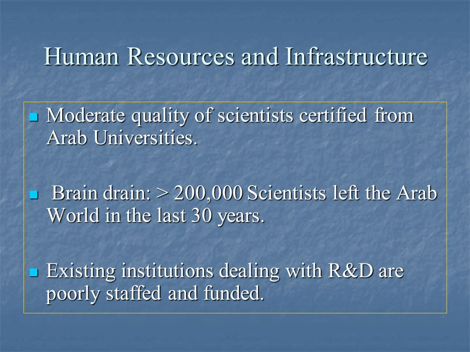 Human Resources and Infrastructure