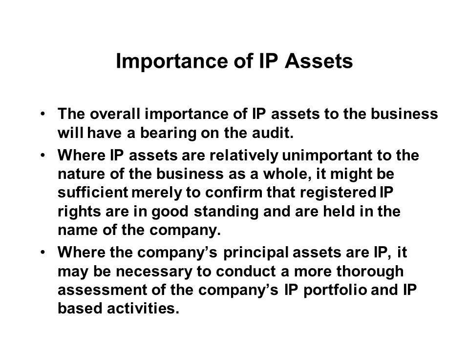 Importance of IP Assets