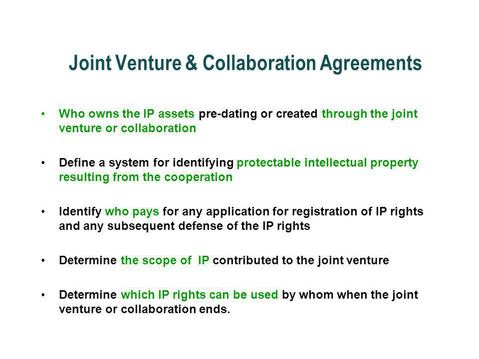 Joint Venture & Collaboration Agreements