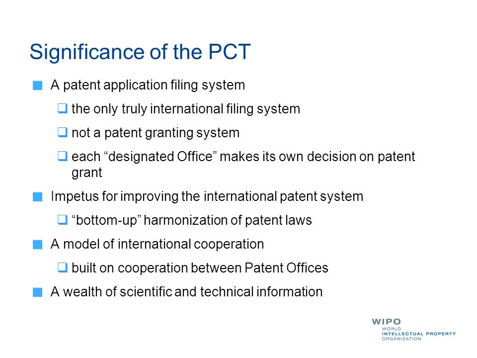 Significance of the PCT