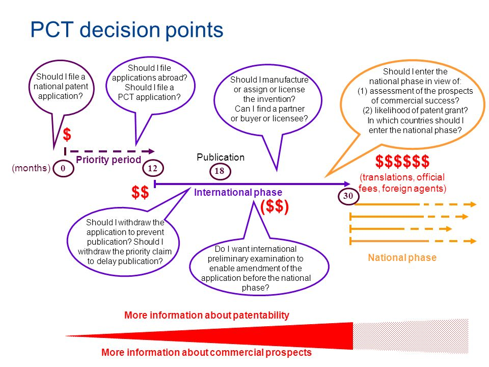 PCT decision points Should I file applications abroad Should I file a PCT application