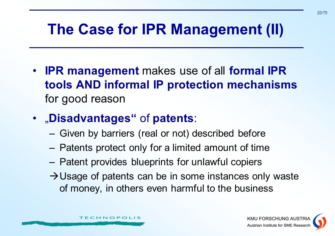 The Case for IPR Management (II)