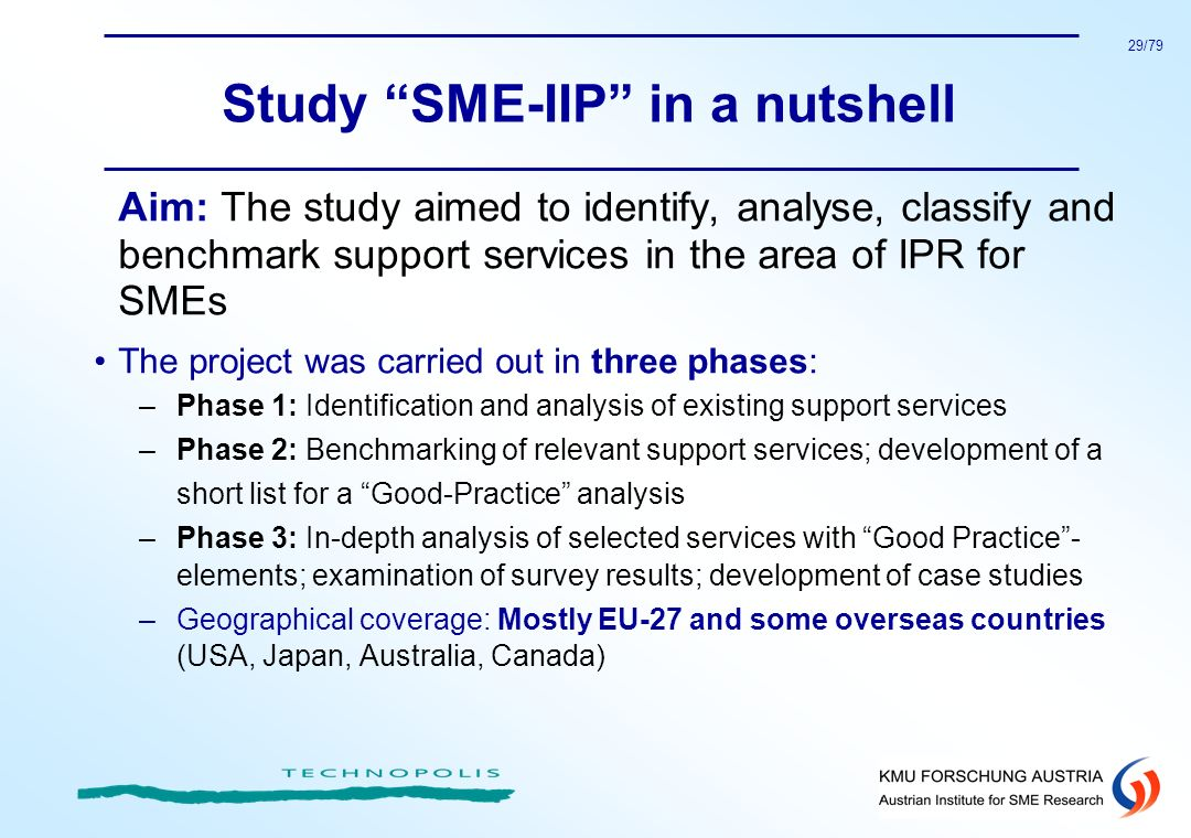 Study SME-IIP in a nutshell