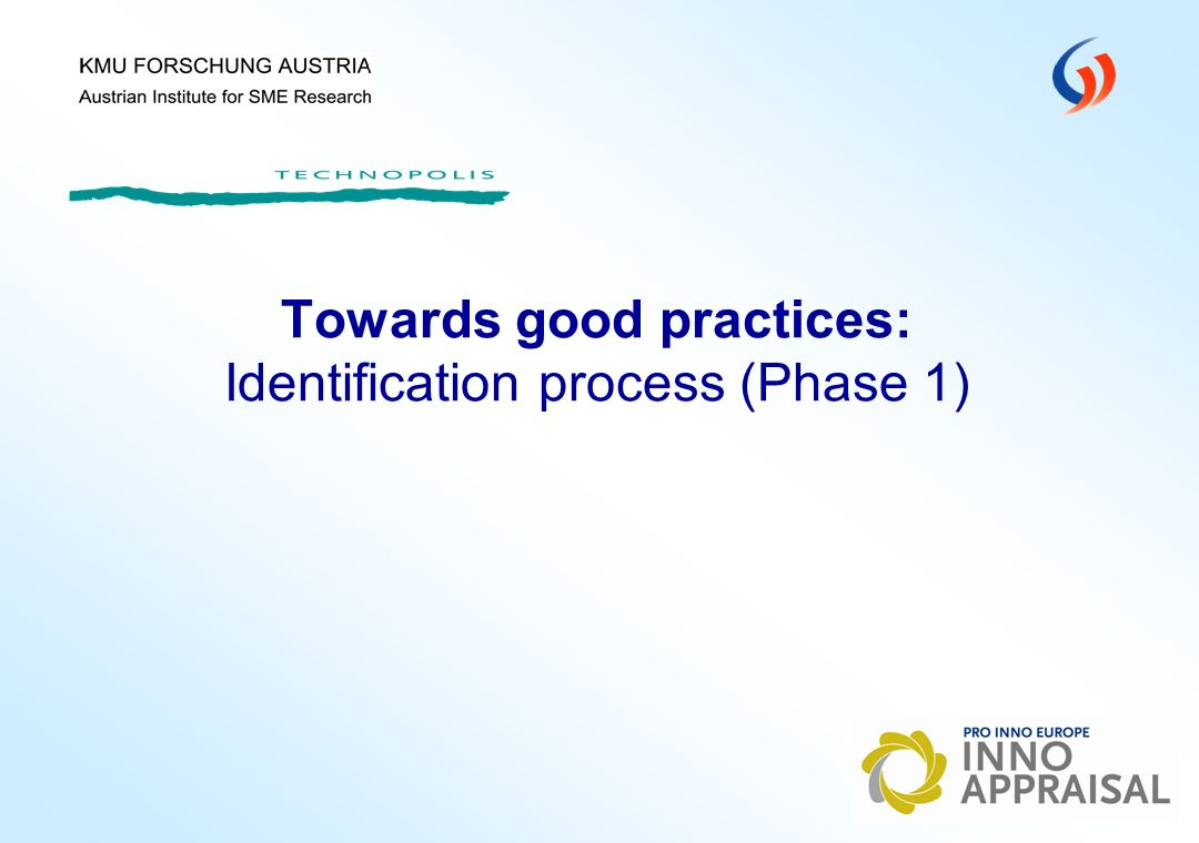 Towards good practices: Identification process (Phase 1)