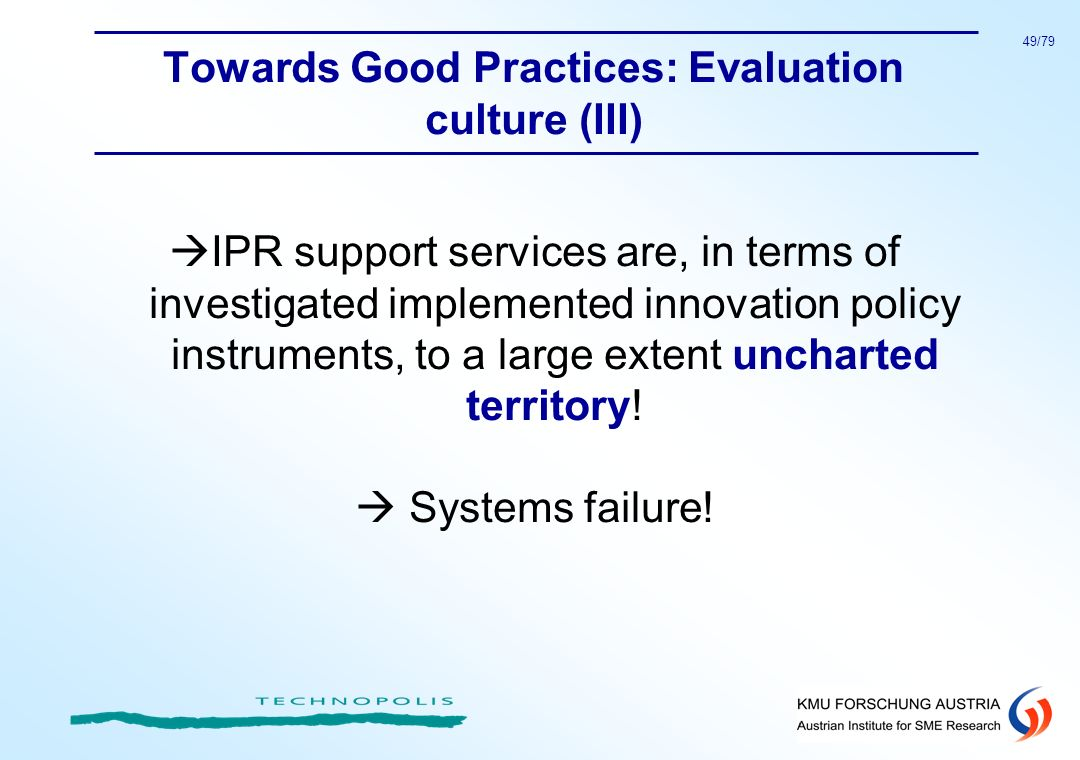 Towards Good Practices: Evaluation culture (III)