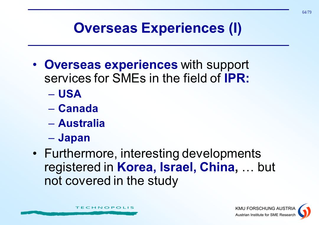 Overseas Experiences (I)