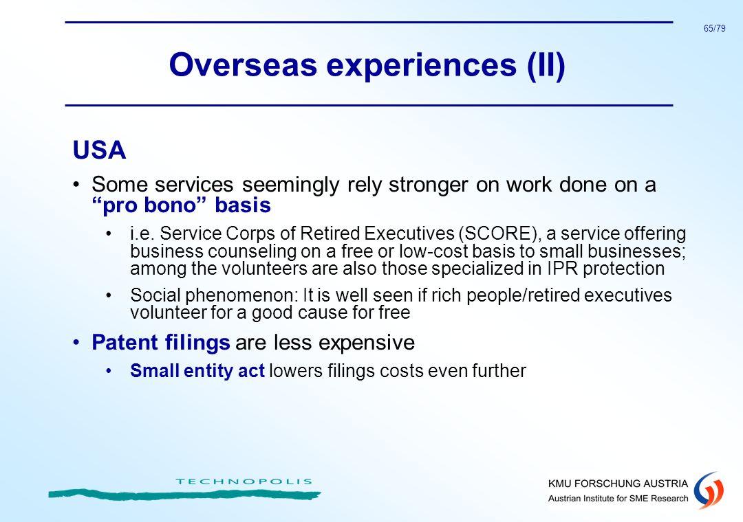 Overseas experiences (II)