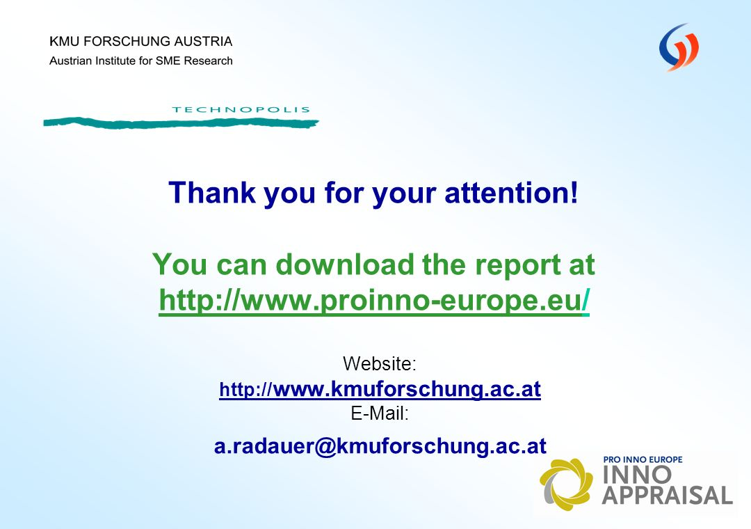 KMU FORSCHUNG AUSTRIA Austrian Institute for SME Research