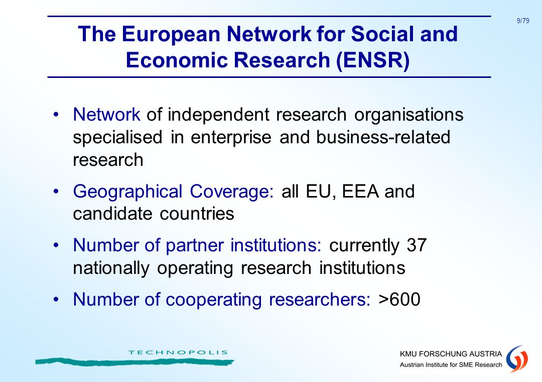 The European Network for Social and Economic Research (ENSR)