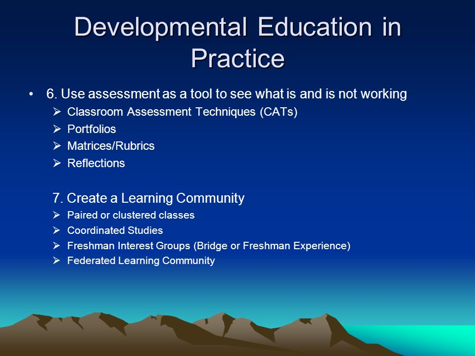 Innovative Classroom Assessment Techniques ~ Developmental education faculty certification program