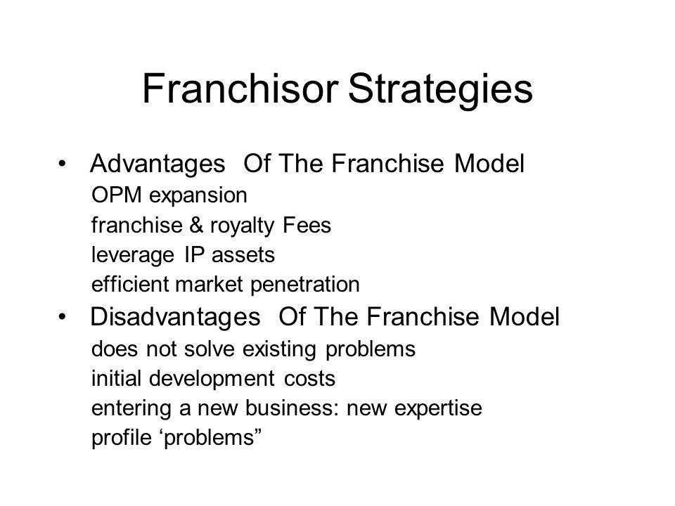 Franchisor Strategies