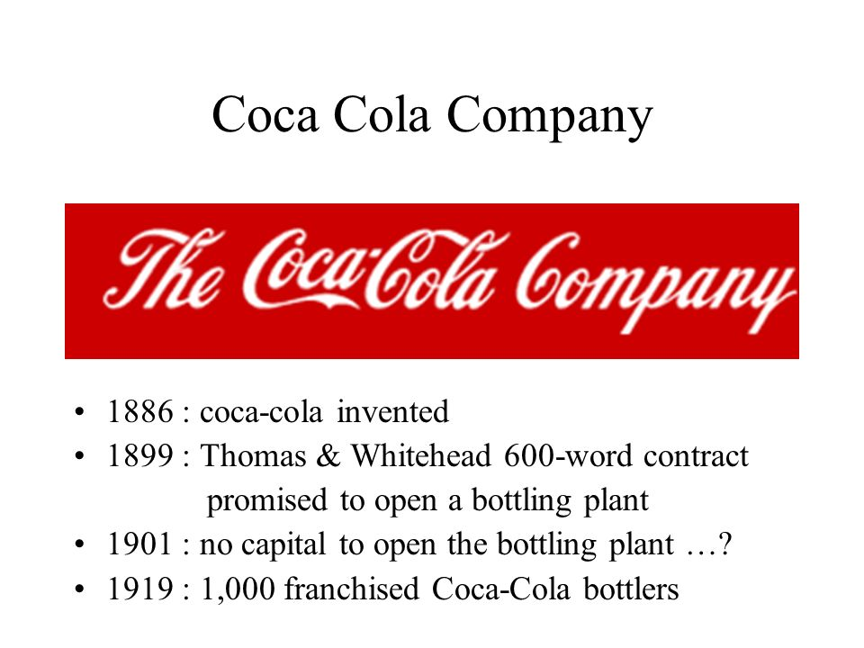 Coca Cola Company 1886 : coca-cola invented